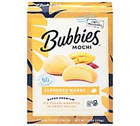 Bubbies Ice Cream Mochi Mango - 7.5 Oz