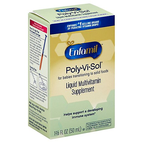 Enfamil Poly-Vi-Sol Supplement Drops with Iron Multivitamin for Infants and Toddlers - 50 Ml