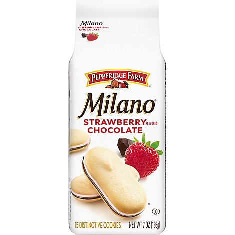 Pepperidge Farm Cookies Strawberry Chocolate Milano Bag - 7 Oz