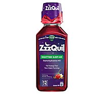 ZzzQuil Nighttime Sleep Aid Liquid Calming Vanilla Cherry - 12 Fl. Oz.