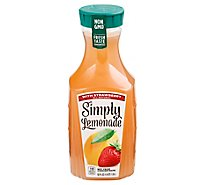Simply Lemonade Juice All Natural With Strawberry - 52 Fl. Oz.