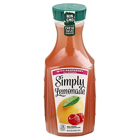 Simply Lemonade Juice All Natural With Raspberry - 52 Fl. Oz.