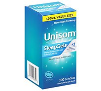 Unisom Nighttime Sleep Aid Gels - 100 Count