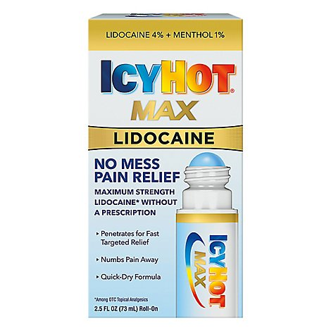 Icy Hot Roll On No Mess W Lidocaine - 2.5 Fl. Oz.