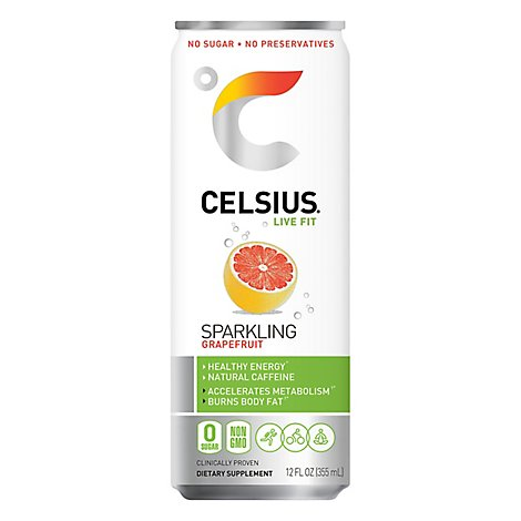 CELSIUS Fitness Drink Naturals Sparkling Grape Fruit Can - 12 Fl. Oz.