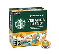 Starbucks Coffee K-Cup Pods Blonde Veranda Blend Box - 32-0.42 Oz