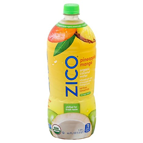 Zico Coconut Water Pineapple Mango Organic - 46 Fl. Oz.