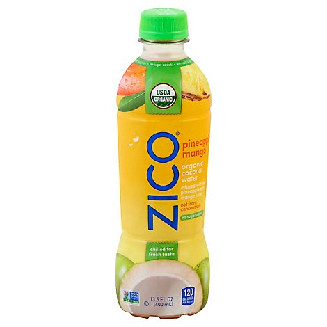 Zico Chilled Coconut Water Pineapple Mango Organic - 13.5 Fl. Oz.