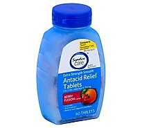 Signature Care Antacid Relief Extra Strength Smooth Berry Fusion Tablet - 60 Count