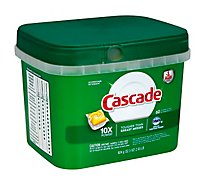 Cascade Dishwasher Detergent ActionPacs Lemon Scent - 60 Count