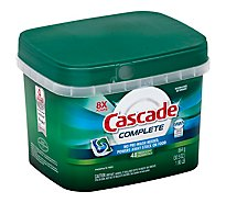 Cascade Complete Dishwasher Detergent ActionPacs Fresh Scent - 43 Count