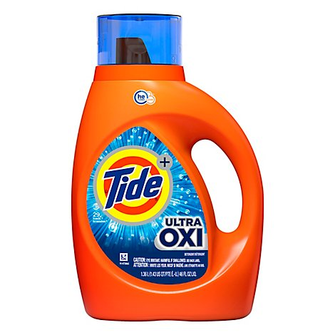 Tide Plus Liquid Detergent Ultra Oxi - 46 Fl. Oz.