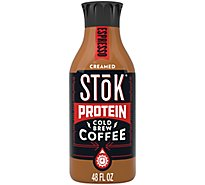 Stok Coffee Cold Brew Protein Espresso Creamed - 48 Fl. Oz.