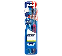Oral-B Indicator Color Collection Toothbrushes Soft - 2 Count