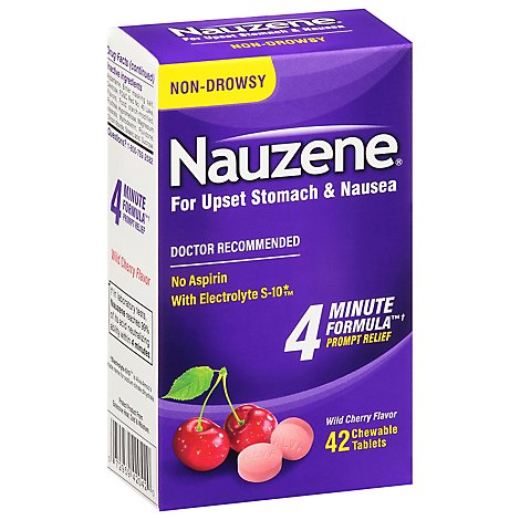 Nauzene Relief Chew Tabs - 42 Count