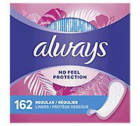 Always Thin Regular Unscented Pantiliners - 162 Count