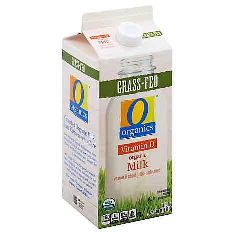 O Organics Organic Milk Grass Fed Vitamin D - Half Gallon
