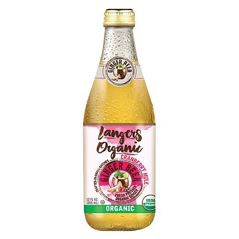 Langers Organic Ginger Beer Cranberry - 12 Fl. Oz.
