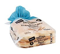 Signature Select Artisan Hamburger Buns White - 21 Oz