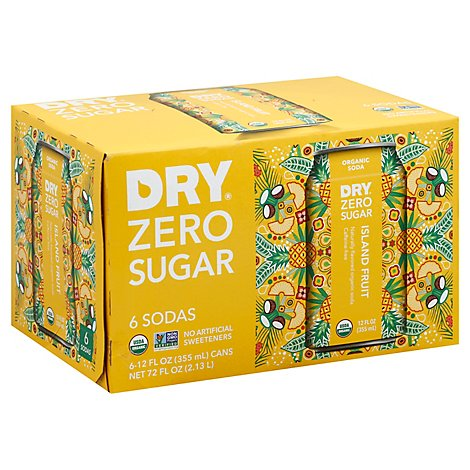 Dry Zero Sugar Island Fruit Soda - 6-12 Fl. Oz.