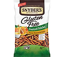 Snyders of Hanovers Pretzel Honey Mstd & Onion Stk Gf - 7 Oz