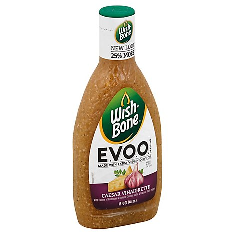 Wish Bone Dressing EVOO Caesar Vinaigrette - 15 Fl. Oz.