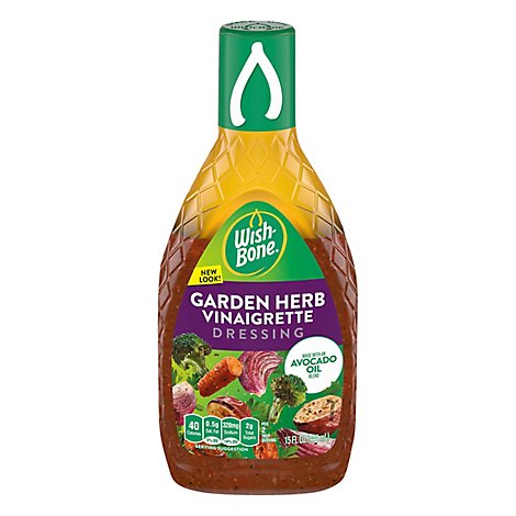 Wish Bone Dressing Avocado Garden Herb Vinagrette Oil - 15 Fl. Oz.