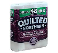 Quilted Northern Bathroom Tissue Ultra Plush Mega Roll 308 3-Ply Sheets Wrapper - 12 Roll