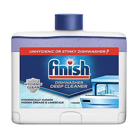 Finish Dishwasher Cleaner 5x Power Dual Action Bottle - 8.45 Fl. Oz.