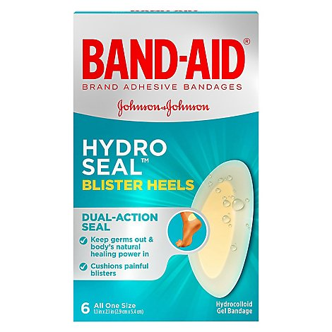 Bandaid Hydro Seal Blister Heel - 6 Count
