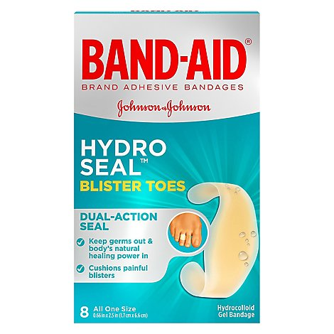 Bandaid Hydro Seal Blister Toes - 8 Count