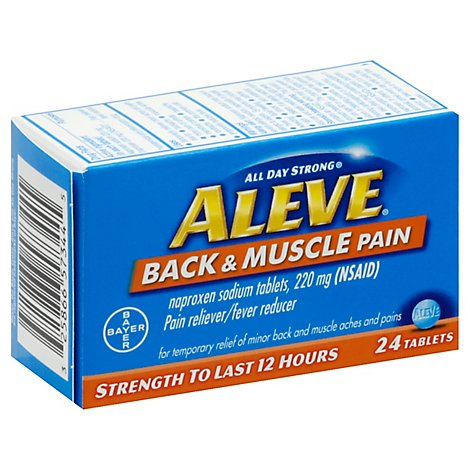 Aleve Back And Muscle Pain Tabs - 24 Count