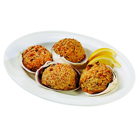 Seafood Service Counter Kitchens Seafood Gourmet Stuffed Clams 4 Ounces