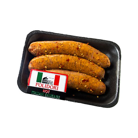 Meat Service Counter Polidori Sausage Italian Hot Link Fr 4 Oz