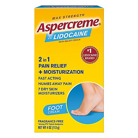 Aspercreme Foot Pain W Lidocaine - 4 Oz