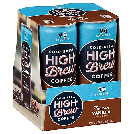 High Brew Coffee Cold-Brew Mexican Vanilla Pack - 4-8 Fl. Oz.