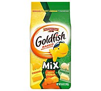 Pepperidge Farm Goldfish Crackers Baked Snack Mix Cheddar + Parmesan Pouch - 6.6 Oz