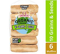 Oroweat Organic English Muffins 10 Grains & Seeds 6 count - 13.75 Oz