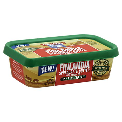 Finlandia Reduced Fat Butter With Canola Oil - 8 Oz