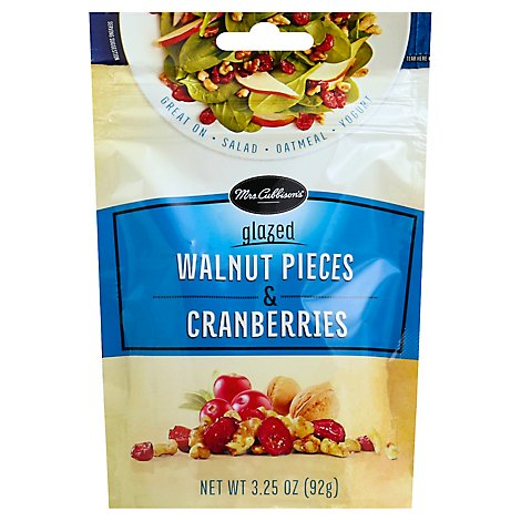 Mrs Cubbisons Dried Cranberries And Glazed Walnut Salad Topping 3.25 Oz - 3.25 Oz
