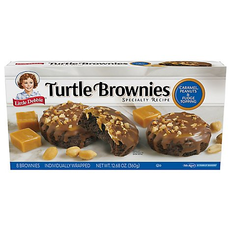 Snack Cakes, Little Debbie Family Pack Turtle Brownies - 12.39 Oz