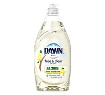 Dawn Ultra Dishwashing Liquid Pure Essential Lemon Essence Scent Bottle - 16.2 Fl. Oz.