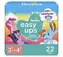 Pampers Easy Ups Training Underwear Girls Size 3T To 4T - 22 Count