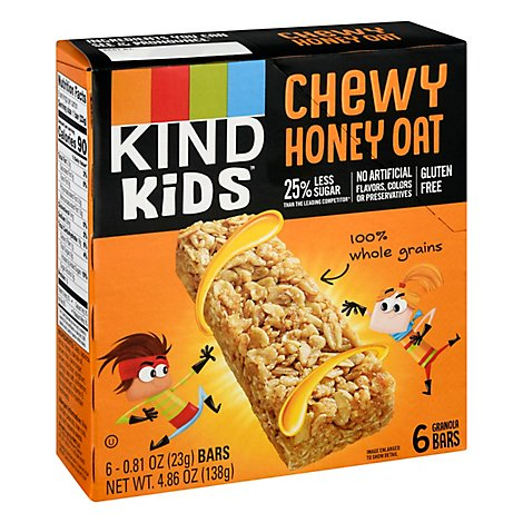Kind Bar Kids Honey Oat 6ct - 4.86 Oz