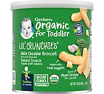 Gerb Org Lil Crunchies Wh Ched Broc - 1.59 Oz