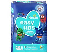 Pampers Easyup 4t5t Jumbo Boy 4/18 - 18 Count