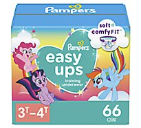 Pampers Easyup 3t4t Super Girl - 66 Count