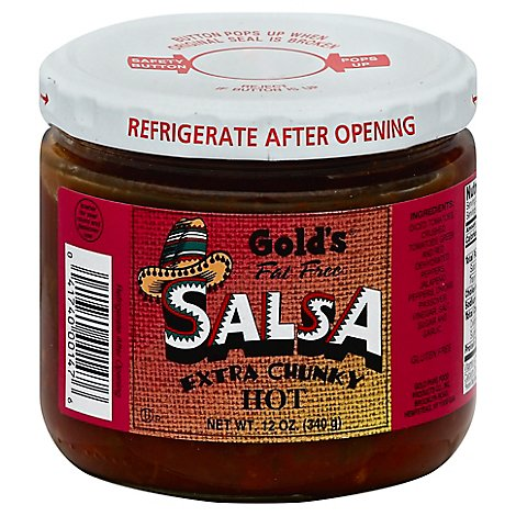 Golds  Salsa Xchunky Hot - 12  Oz