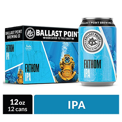 Ballast Point Fathom Ipa In Cans - 12-12 Fl. Oz.