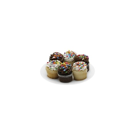 Cupcake 3 Choc/3 White 6 Count